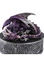 Purple Dragon Round Trinket Box at Gothic Plus, Gothic Clothing, Jewelry, Goth Shoes & Boots & Home Decor