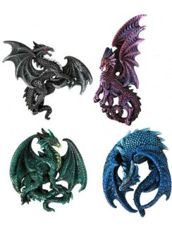 Dragon Magnets Set of 4 Gothic Plus Gothic Clothing, Jewelry, Goth Shoes & Boots & Home Decor