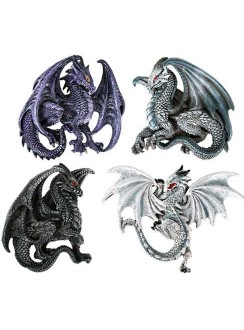 Winged Dragon Magnets Set of 4 Gothic Plus Gothic Clothing, Jewelry, Goth Shoes & Boots & Home Decor