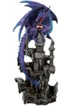Purple Dragon Castle Guardian Statue