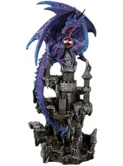 Purple Dragon Castle Guardian Statue Gothic Plus Gothic Clothing, Jewelry, Goth Shoes & Boots & Home Decor