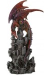 Red Dragon Castle Guardian Statue