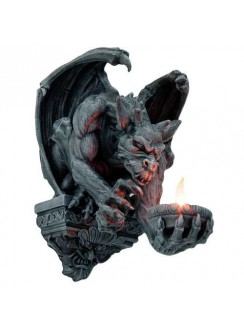 Whitechapel Gargoyle Wall Candleholder Gothic Plus Gothic Clothing, Jewelry, Goth Shoes & Boots & Home Decor
