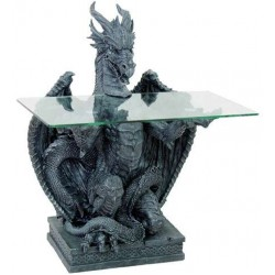 Dragon Glass Top Side Table Gothic Plus Gothic Clothing, Jewelry, Goth Shoes & Boots & Home Decor