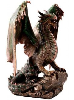 Bronzage Dragon Statue Gothic Plus Gothic Clothing, Jewelry, Goth Shoes & Boots & Home Decor