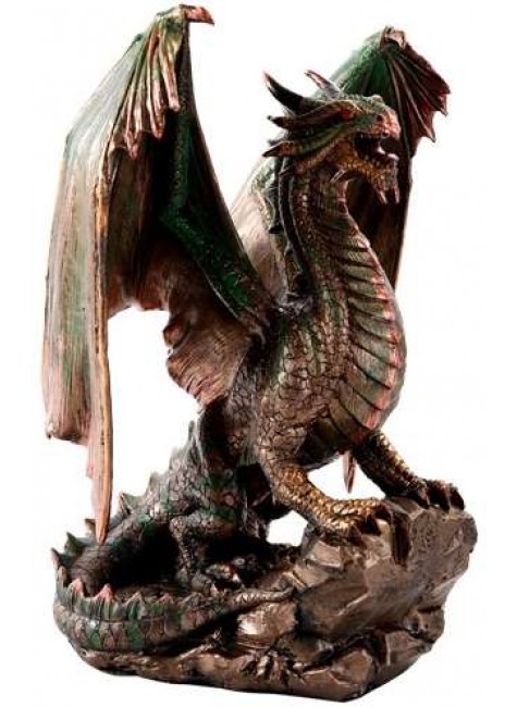 Bronzage Dragon Statue at Gothic Plus, Gothic Clothing, Jewelry, Goth Shoes & Boots & Home Decor