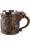 Steampunk Dragon Mug with Stainless Steel Cup