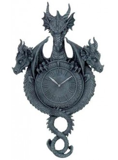 Dragon Wall Clock Gothic Plus Gothic Clothing, Jewelry, Goth Shoes & Boots & Home Decor