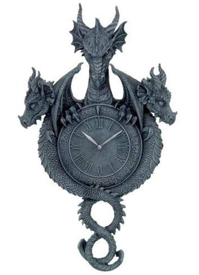 smartness inspiration dragon decor. Dragon Wall Clock in Gray Resin  Medieval Home Decor Beautiful Gallery Best Decorating Ideas