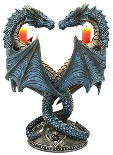 Double Dragon Candle Holder at Gothic Plus, Gothic Clothing, Jewelry, Goth Shoes & Boots & Home Decor