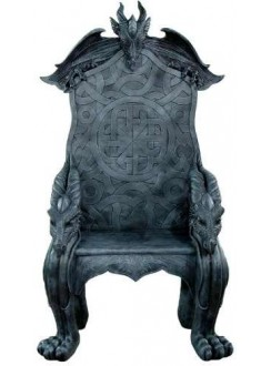 Celtic Dragon Throne Medieval Chair Gothic Plus Gothic Clothing, Jewelry, Goth Shoes & Boots & Home Decor