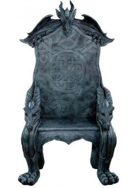 Celtic Dragon Throne Medieval Chair at Gothic Plus, Gothic Clothing, Jewelry, Goth Shoes & Boots & Home Decor