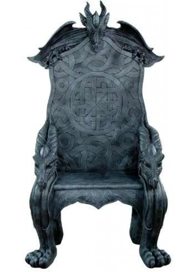 Celtic Dragon Throne Medieval Chair At Gothic Plus, Gothic Clothing,  Jewelry, Goth Shoes