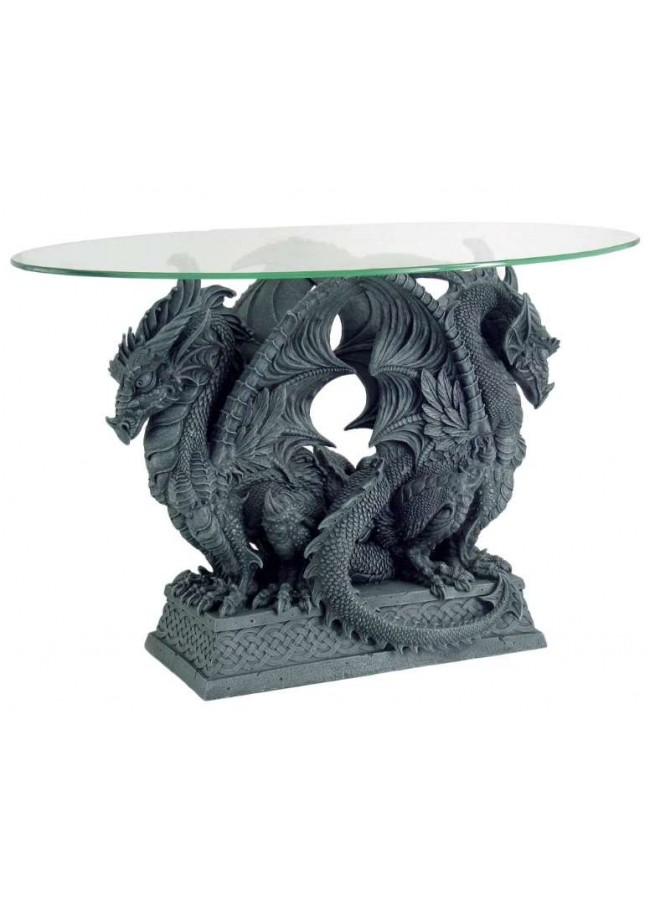 Double Dragon Glass Top Accent Table At Gothic Plus, Gothic Clothing,  Jewelry, Goth
