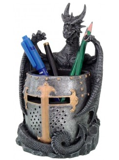 Dragon Armor Utility Holder Pen Cup Gothic Plus Gothic Clothing, Jewelry, Goth Shoes & Boots & Home Decor