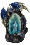 Lighted Geode Guardian Dragon Statue