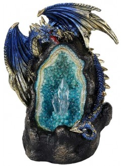 Lighted Geode Guardian Dragon Statue Gothic Plus Gothic Clothing, Jewelry, Goth Shoes & Boots & Home Decor