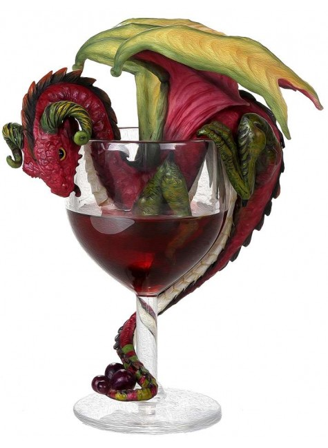 Red Wine Dragon Statue at Gothic Plus, Gothic Clothing, Jewelry, Goth Shoes & Boots & Home Decor