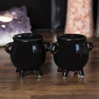 Witches Cauldron Salt and Pepper Shaker Set