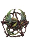 Forest Pentagram Dragon Plaque