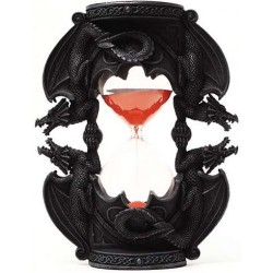 Dual Dragon Sand Timer Gothic Plus Gothic Clothing, Jewelry, Goth Shoes & Boots & Home Decor