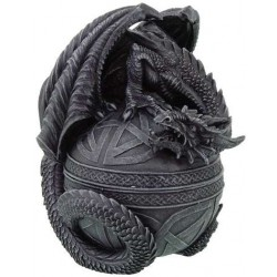 Celtic Dragon Round Trinket Box Gothic Plus Gothic Clothing, Jewelry, Goth Shoes & Boots & Home Decor
