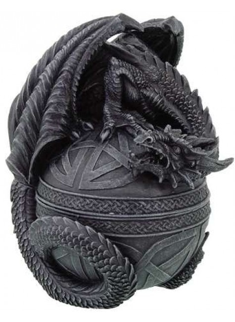 Celtic Dragon Round Trinket Box at Gothic Plus, Gothic Clothing, Jewelry, Goth Shoes & Boots & Home Decor