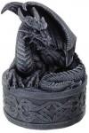 Celtic Dragon Round Treasure Box