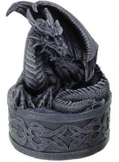 Celtic Dragon Round Treasure Box Gothic Plus Gothic Clothing, Jewelry, Goth Shoes & Boots & Home Decor