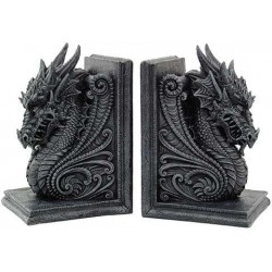 Dragon Head Ornate Bookends Gothic Plus Gothic Clothing, Jewelry, Goth Shoes & Boots & Home Decor