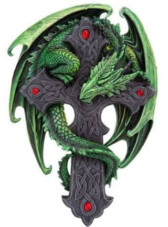 Woodland Guardian Dragon Plaque Gothic Plus Gothic Clothing, Jewelry, Goth Shoes & Boots & Home Decor