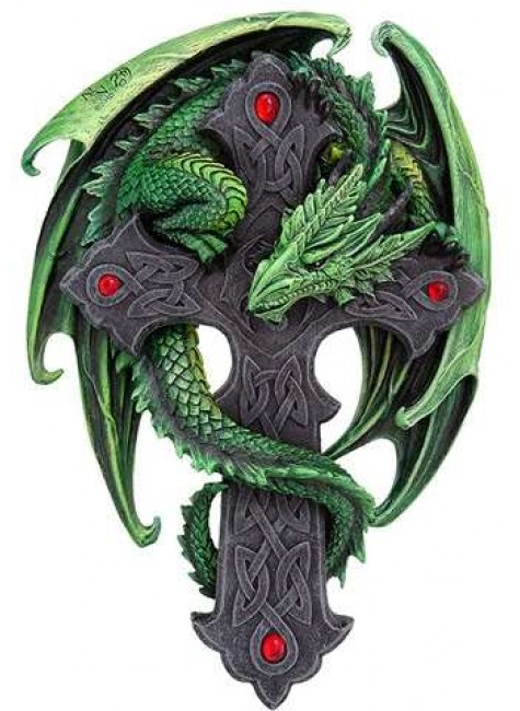 Woodland Guardian Dragon Plaque at Gothic Plus, Gothic Clothing, Jewelry, Goth Shoes & Boots & Home Decor