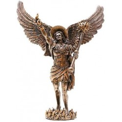 Archangel Uriel Bronze Resin Statue Gothic Plus Gothic Clothing, Jewelry, Goth Shoes & Boots & Home Decor