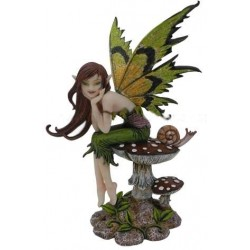 Thinking of You Fairy Statue Gothic Plus Gothic Clothing, Jewelry, Goth Shoes & Boots & Home Decor