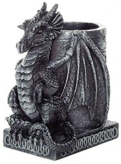 Dragon Utility Holder Pen Cup Gothic Plus Gothic Clothing, Jewelry, Goth Shoes & Boots & Home Decor