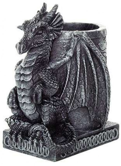 Dragon Utility Holder Pen Cup at Gothic Plus, Gothic Clothing, Jewelry, Goth Shoes & Boots & Home Decor