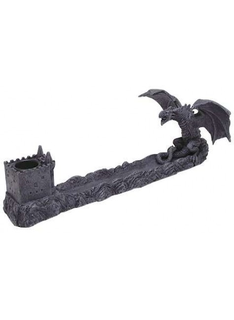 Castle Dragon Incense Burner at Gothic Plus, Gothic Clothing, Jewelry, Goth Shoes & Boots & Home Decor