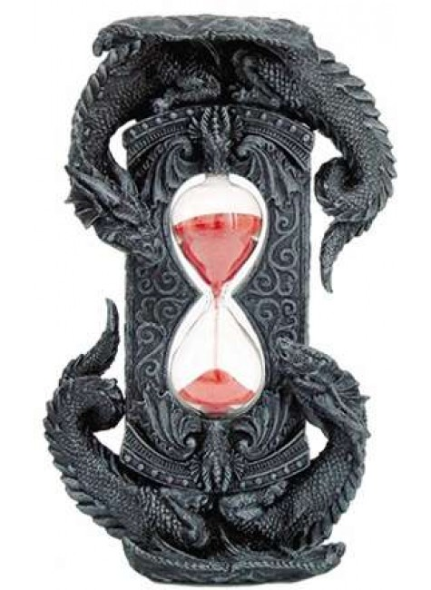 Double Dragon Gothic Sand Timer at Gothic Plus, Gothic Clothing, Jewelry, Goth Shoes & Boots & Home Decor