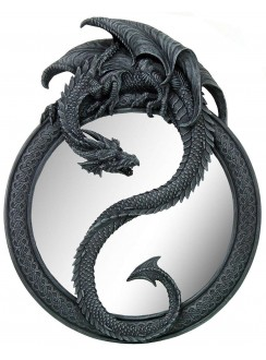 Dragon Ying Yang Wall Mirror Gothic Plus Gothic Clothing, Jewelry, Goth Shoes & Boots & Home Decor