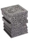 Celtic Cross Lift Top Trinket Box