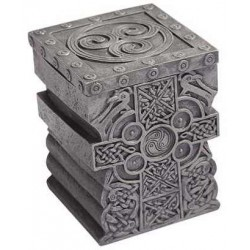 Celtic Cross Lift Top Trinket Box Gothic Plus Gothic Clothing, Jewelry, Goth Shoes & Boots & Home Decor