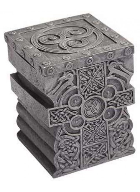 Celtic Cross Lift Top Trinket Box at Gothic Plus, Gothic Clothing, Jewelry, Goth Shoes & Boots & Home Decor