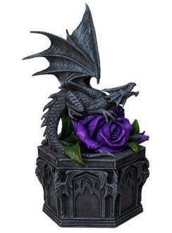 Dragon Beauty Purple Rose Trinket Box