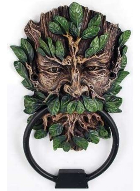 Greenman Forest God Door Knocker at Gothic Plus, Gothic Clothing, Jewelry, Goth Shoes & Boots & Home Decor