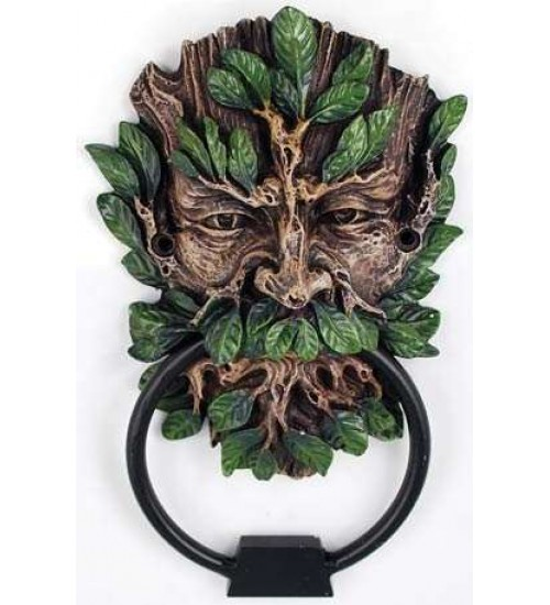 Greenman Forest God Door Knocker at Gothic Plus,  Gothic Clothing, Jewelry, Goth Shoes, Boots & Home Decor