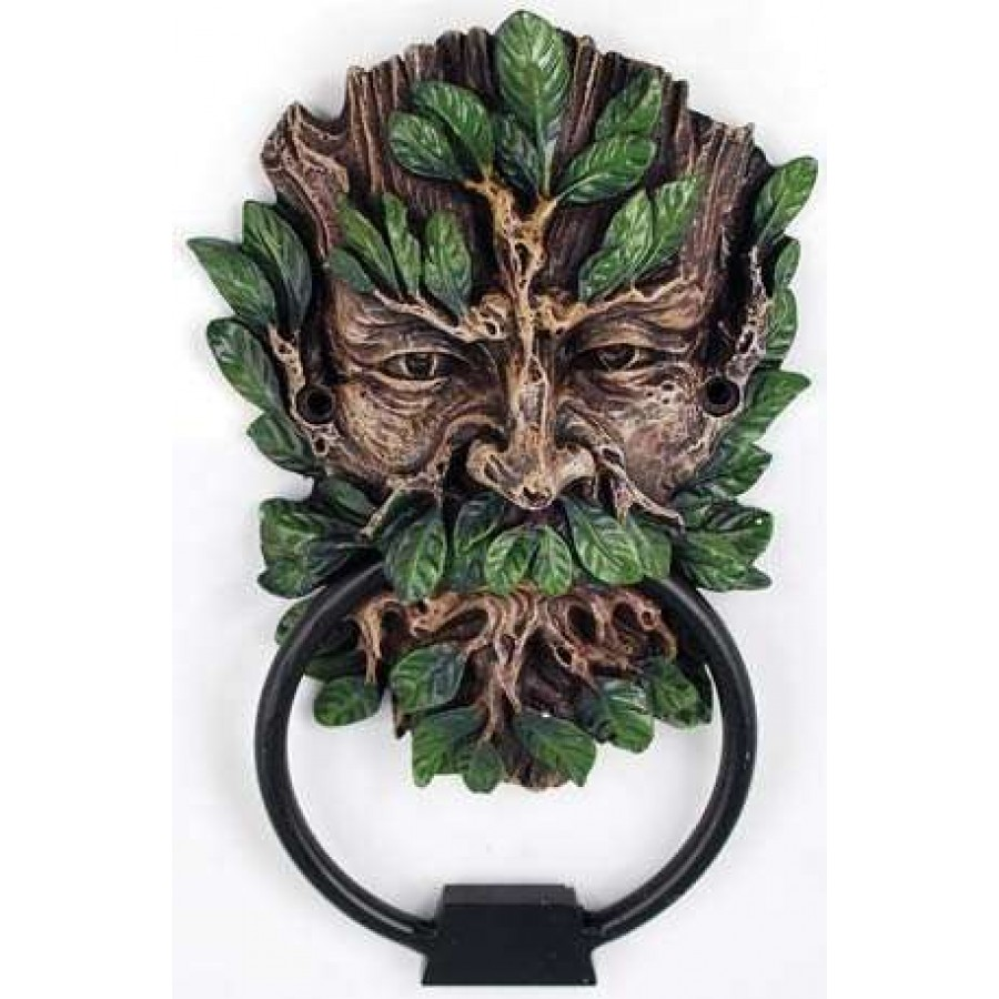 Greenman forest god door knocker home decor ancient gods - Green man door knocker ...