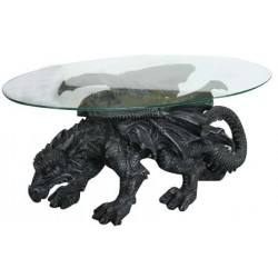 Shire Dragon Glass Topped Coffee Table Gothic Plus Gothic Clothing, Jewelry, Goth Shoes & Boots & Home Decor
