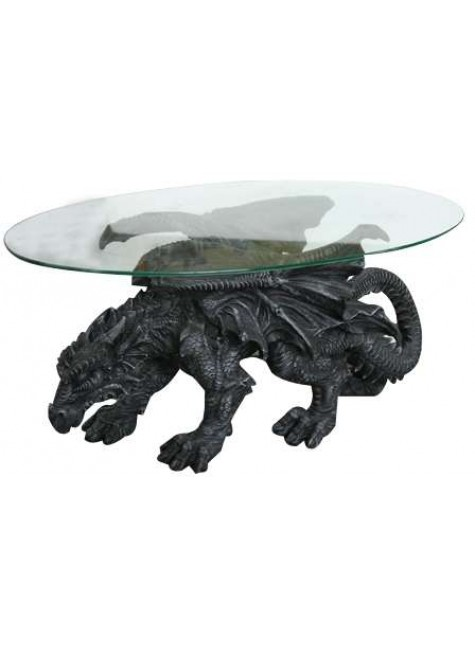 Shire Dragon Glass Topped Coffee Table