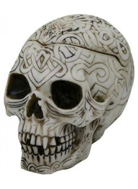 Celtic Skull Small Box at Gothic Plus, Gothic Clothing, Jewelry, Goth Shoes & Boots & Home Decor