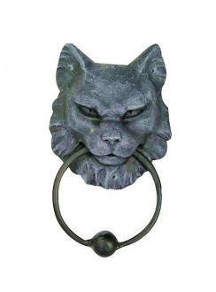 Gargoyle Cat Door Knocker Gothic Plus Gothic Clothing, Jewelry, Goth Shoes & Boots & Home Decor